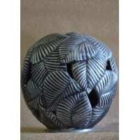 Ваза шар-лист серебро ( 1 шт в ящ)