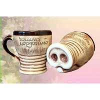Чашка мордашка (45 шт. в ящ.)