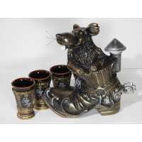 Винный набор крыса бронза 4 предмета (12 шт. в ящ.)