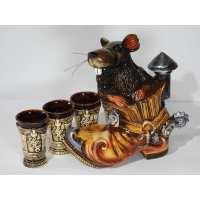 Винный набор крыса цветная 4 предмета (12 шт. в ящ.)