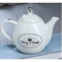 чайник петелька 1,1 л белый рис.чай (24 шт в ящ)
