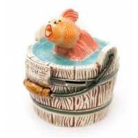 Копилка золотая рыбка (16 шт в ящ)