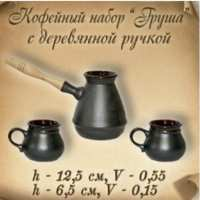 """Кофейный набор """"Груша"""" с дерев. ручкой  (29 шт в ящ)"""