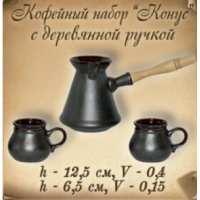 """Кофейный набор """"Конус"""" с дерев. ручкой (29 шт в ящ)"""