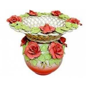 """Ваз-шар """"Офелия"""" плетенка (цветная лепка), Версаль цвет в ассортименте 24*26*26 (4 шт в ящ.)"""