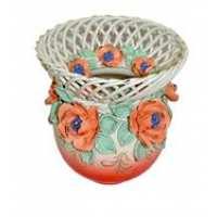 """Ваза-шар """"Жаклин"""" плетенка (цветная лепка), Версаль цвет в ассортименте 8*19*15 (9 шт в ящ.)"""