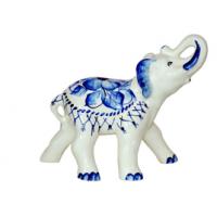 """Статуэтка """"Слон"""" гжель 17 см (24 шт. в ящ.)"""