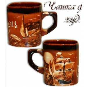 Чашка фирменная большая худ-коричневая (72 шт. в ящ.)