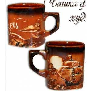 Чашка фирменная мал. худ-коричневая (160 шт. в ящ.)
