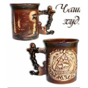 Чашка Якорь худ. коричневая + этикетка ( 70 шт в ящ.)