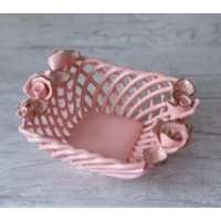 Конфетница Амурчик розовый золото 7см (45 шт. в ящ.)