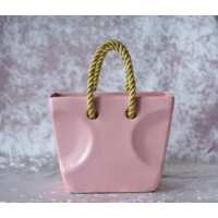 Ваза/конфетница Кантри розовая 17см (15 шт. в ящ.)