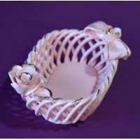 Конфетница Боярочка розовая з/з 8см (42 шт. в ящ.)