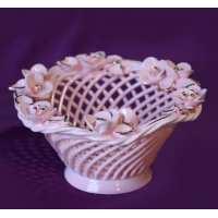 Конфетница Гармония розовая золото 12см (18 шт. в ящ.)