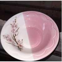 Тарелка Солнышко 0.5л глубокая розовая сакура  (40шт в ящ)