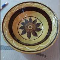 Тарелка Солнышко 0.5л глубокая рисовка цветок (40шт в ящ)