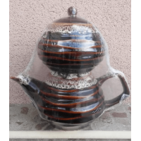 Коричневый набор большой чайник (1100 мл) и сахарница (800 мл) (16 шт. в ящ.)