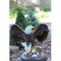 Орел рисованный бронза (2 шт. в ящ.) гипс