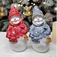 Статуэтка Снеговик мини с фонарем 20см (20 шт в ящ)