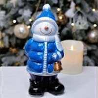 Статуэтка Снеговик мини с колокольчиком  21см (20 шт в ящ)