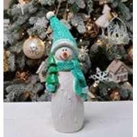 Статуэтка Снеговик мини карандаш 22см (20 шт в ящ)