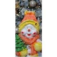 Статуэтка Снеговик с елкой 44см (3 шт в ящ)