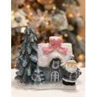 Статуэтка Санта с домиком Евро 22см (10 шт в ящ)