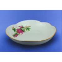 """Блюдо """"Ромашка"""" белое с деколью, 27,5 см (10 шт. в ящ.)"""