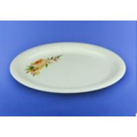 Блюдо овальное белое с деколью, 36 см  (12 шт. в ящ.)