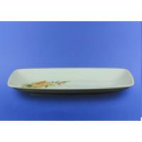 Блюдо прямоугольное белое с деколью, 35,5 см (15 шт. в ящ.)