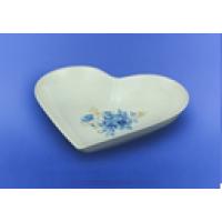 """Салатник """"Сердце"""" белый с деколью, 19,5 см (30 шт. в ящ.)"""