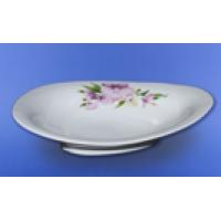Блюдо для вареников белое с деколью, 30 см (7 шт. в ящ.)