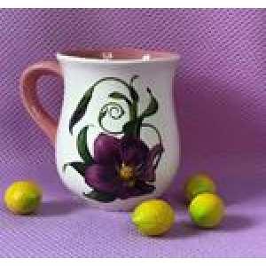 Чашка Тюльпан бело-розовый Лютик 0.4л (90 шт в ящ)