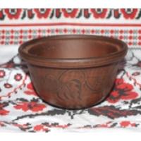 Пиала резная 450 гр кр.глина (56 шт. в ящ.)